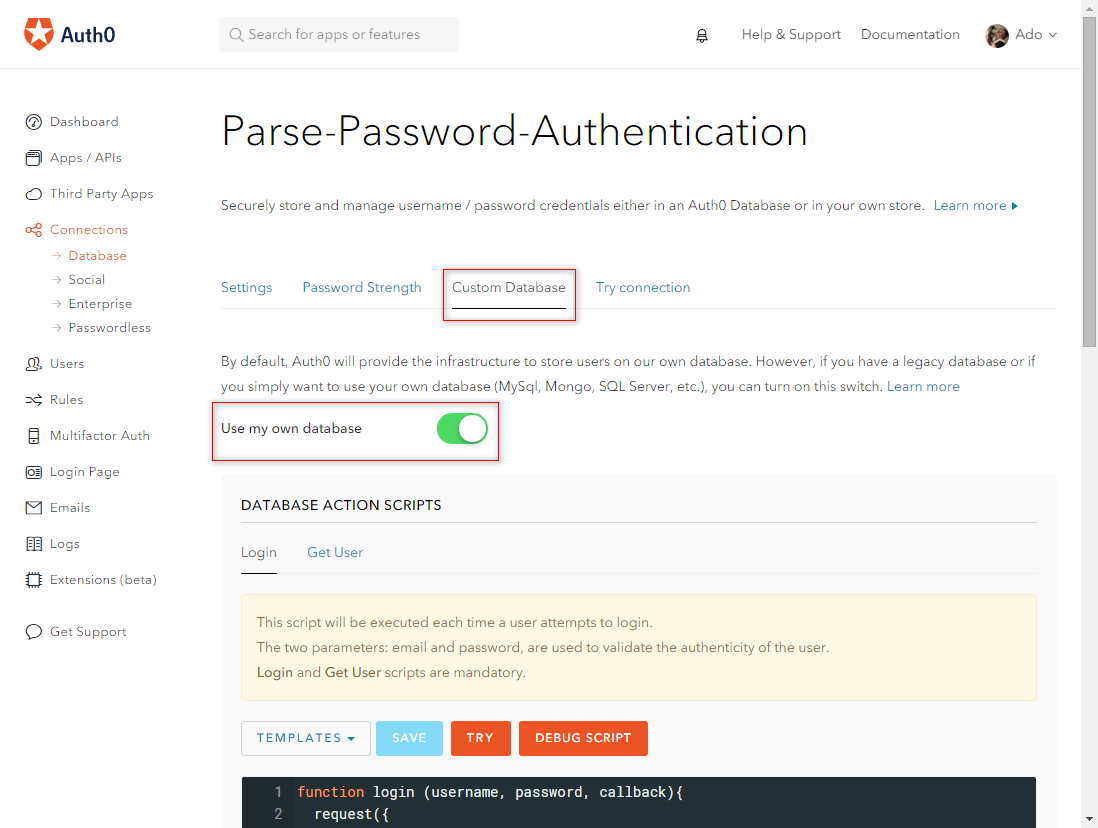 Auth0 Parse User Migration