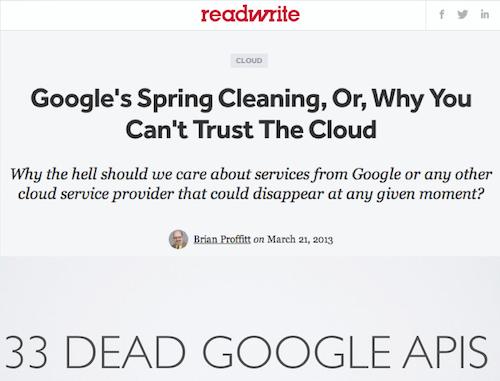 33 Dead Google APIs