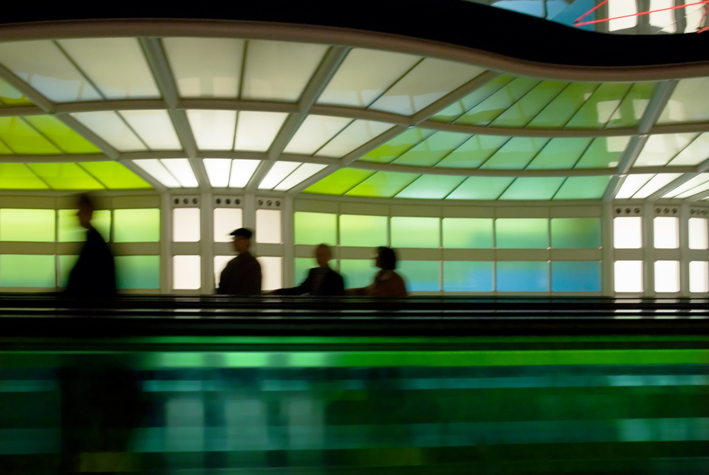 Airport Walkway by Troy McCullough