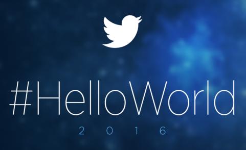 Twitter #HelloWorld
