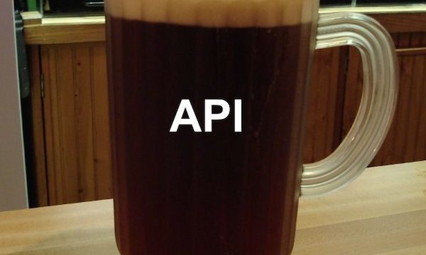 Where the API is the Beer