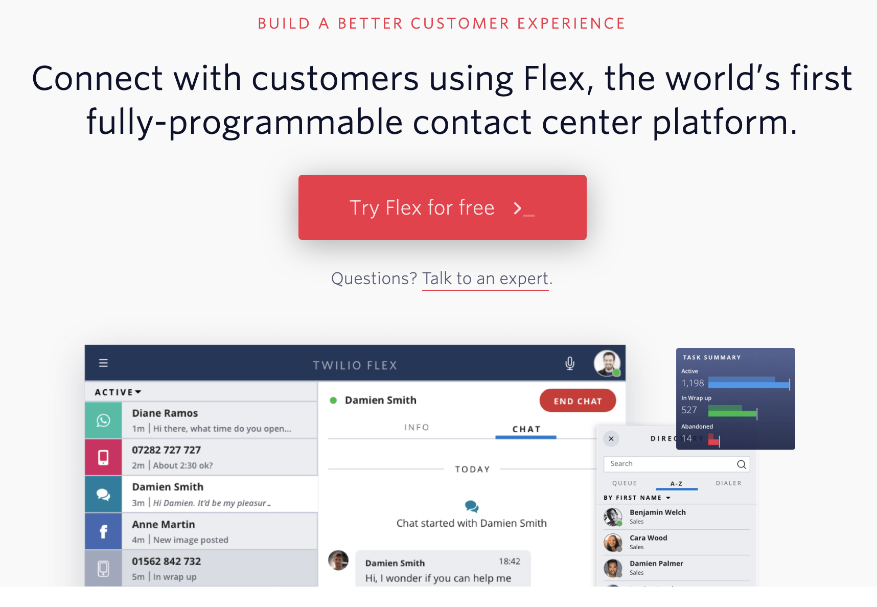 Twilio Flex customer experience tool